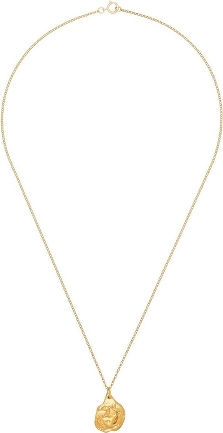 Alighieri Snake 24kt yellow gold-plated necklace