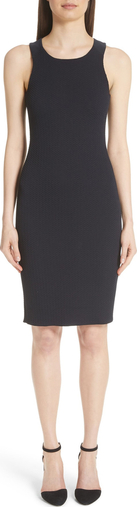 Emporio Armani Stretch Jacquard Tank Dress