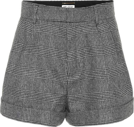 Saint Laurent Checked wool shorts