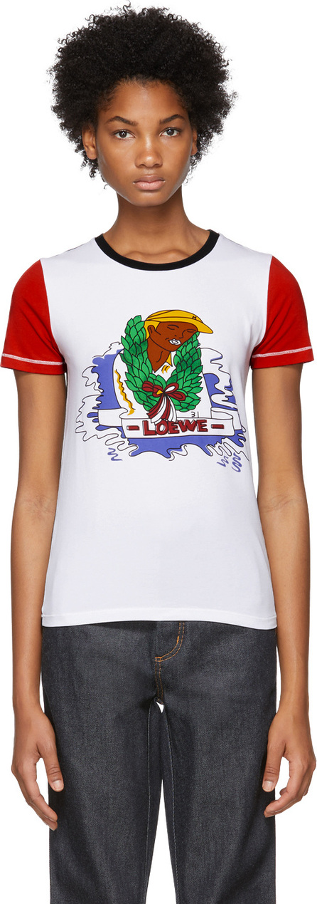 LOEWE White & Red Holiday T-Shirt