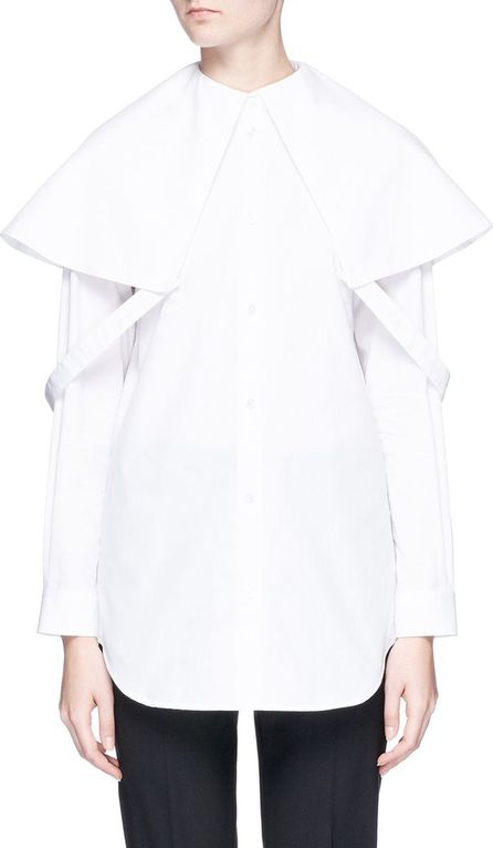 Aalto Attached collar poplin shirt