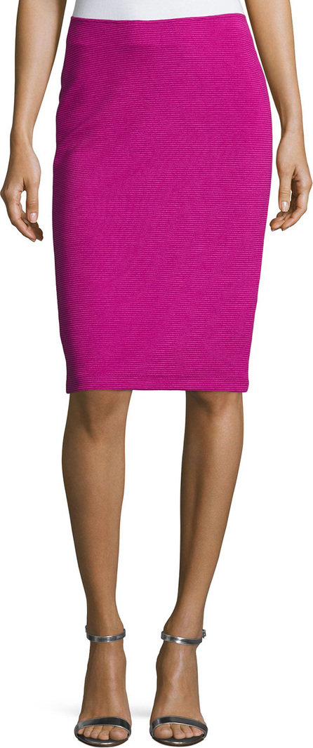 Armani Collezioni Ottoman Ribbed Jersey Pencil Skirt