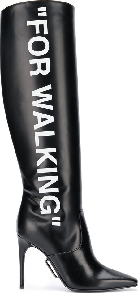 Off White For Walking knee boots