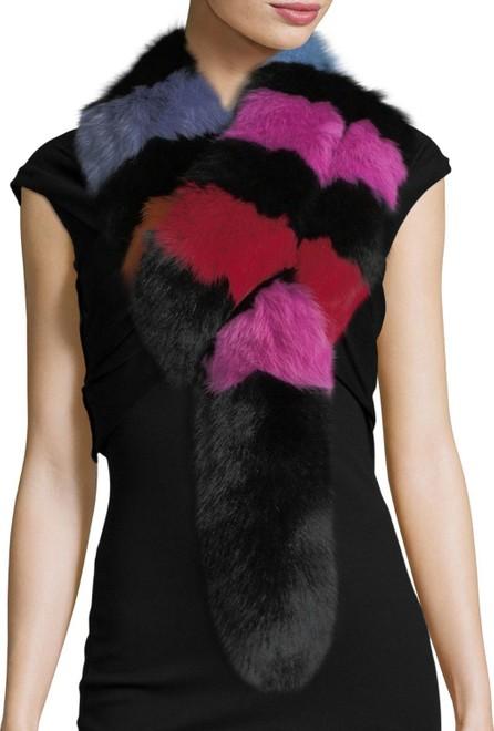 Charlotte Simone Popsicle Fur Scarf, Multi