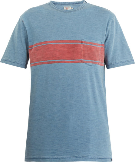 Faherty Surf striped cotton T-shirt