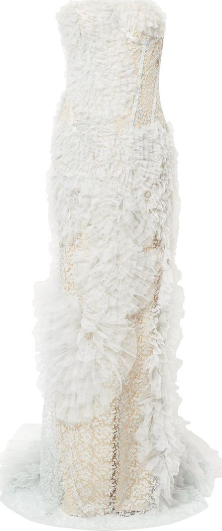 Ermanno Scervino ruffled lace dress