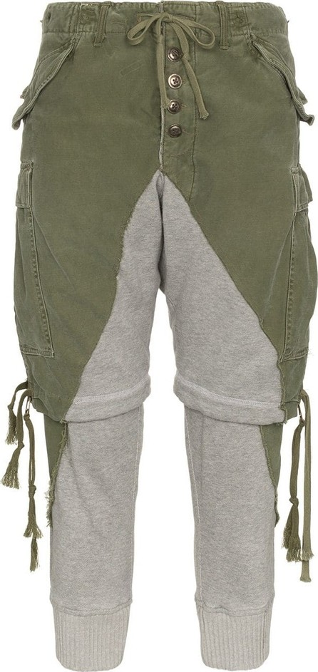 Greg Lauren Zip shorts cotton trousers