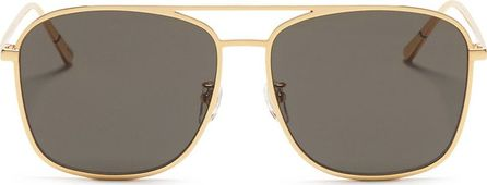 BLANC & ECLARE 'Geneva Large' metal aviator sunglasses