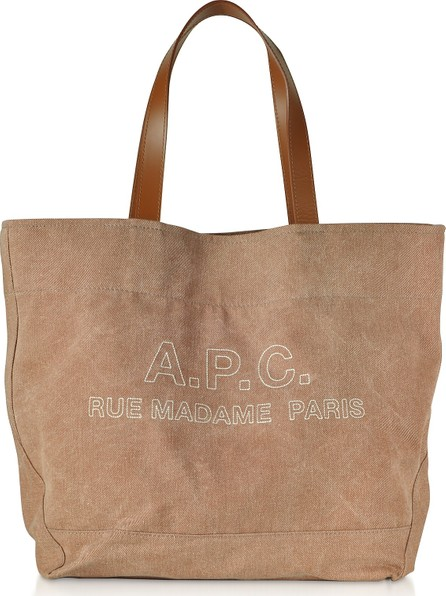 A.P.C. Denim and Leather Ingride Tote Bag