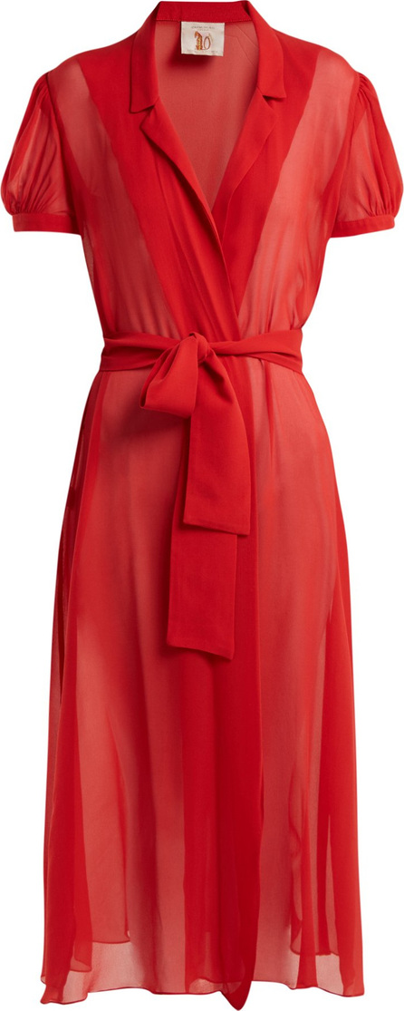 Adriana Degreas X Charlotte Olympia Pin-Up silk-georgette dress