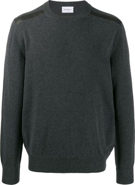 Salvatore Ferragamo Panelled knitted jumper