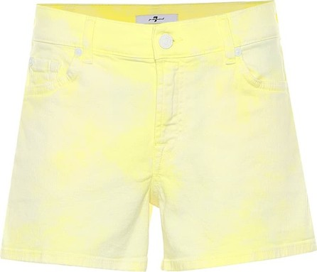 7 For All Mankind Mid-rise denim shorts