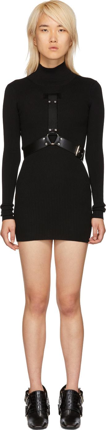 Alyx Black Bondage Turtleneck Dress