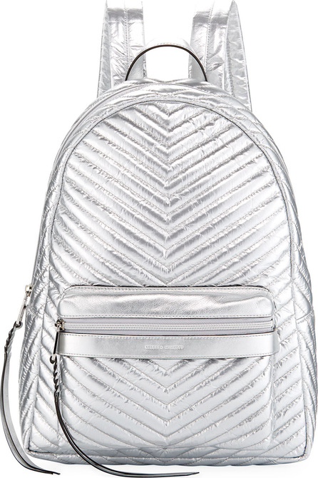 Rebecca Minkoff Pippa Large Quilted Metallic Nylon Backpack