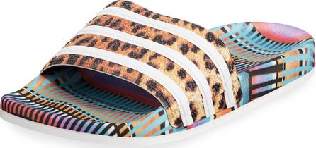 Adidas Adilette Bright Leopard-Print Pool Slide Sandals