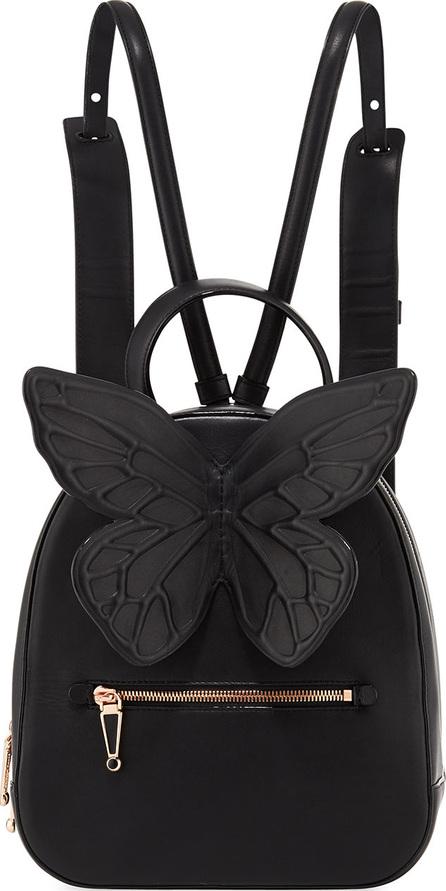 Sophia Webster Kiko Leather Butterfly Backpack, Black