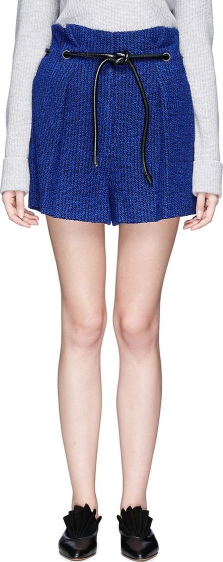3.1 Phillip Lim 'Origami' drawstring waist pleated bouclé paperbag shorts
