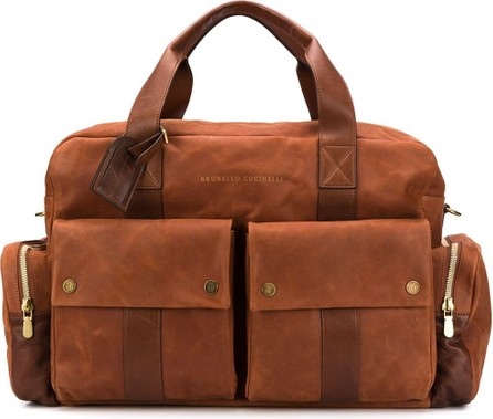 Brunello Cucinelli Multi-pockets holdall bag