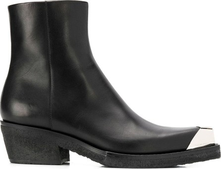 Calvin Klein 205W39NYC Metallic toe ankle boots