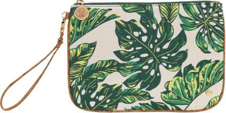 Stephanie Johnson Seychelles Green Large Flat Wristlet