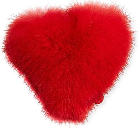 Anya Hindmarch Heart Mink Sticker for Handbag, Red