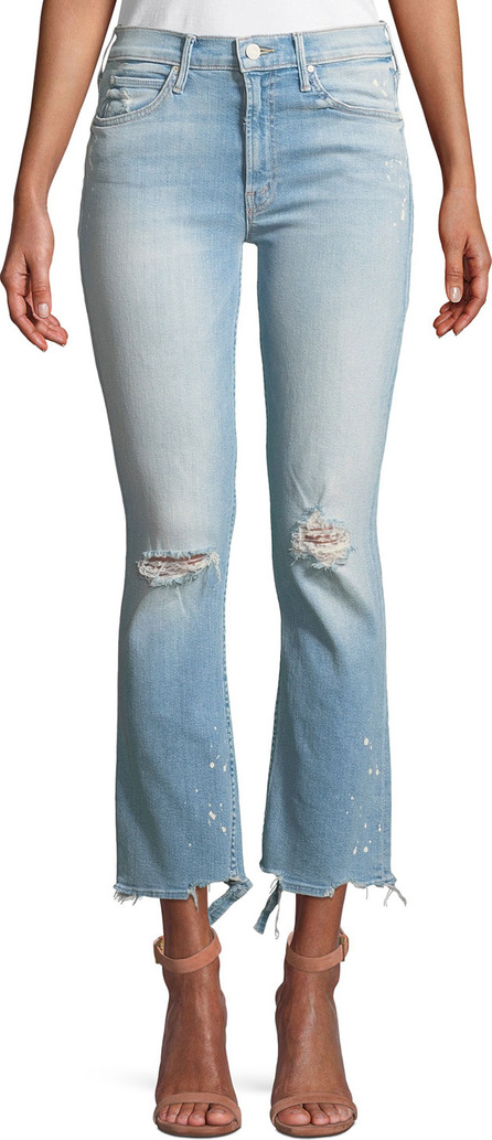 MOTHER Dutchie Distressed Ankle Jeans