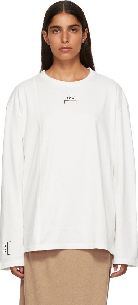 A-Cold-Wall* White Bracket Logo Cut Line T-Shirt