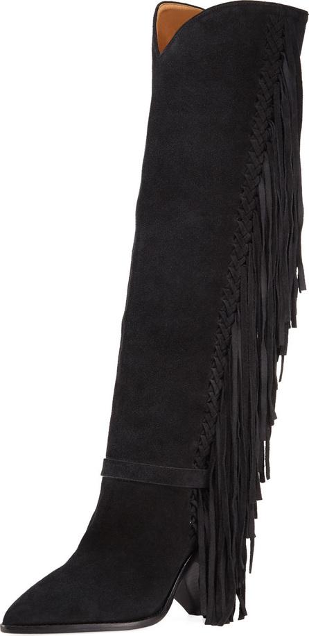 Isabel Marant Lenston Tall Knee Boots with Fringe