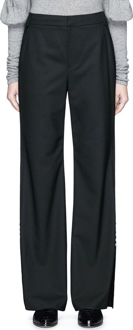 ADEAM Pearlescent button wide leg suiting pants