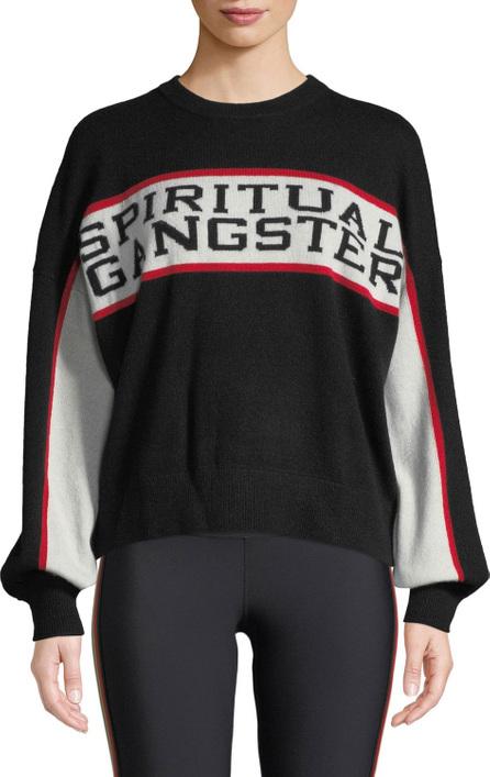 Spiritual Gangster Varsity Intarsia Wool-Cashmere Sweater