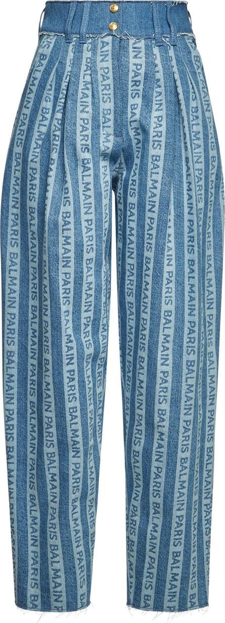 Balmain Printed High-Waist Jeans