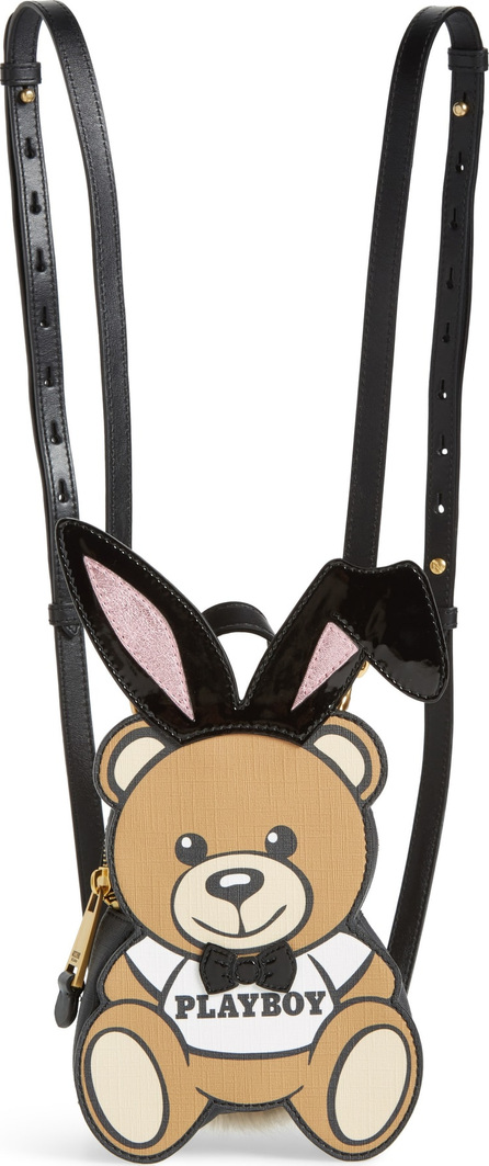 Moschino x Playboy Small Bunny Bear Leather Backpack