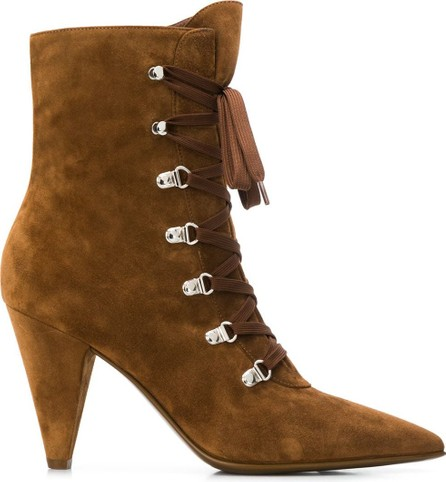 Gianvito Rossi Textured lace-up ankle boots