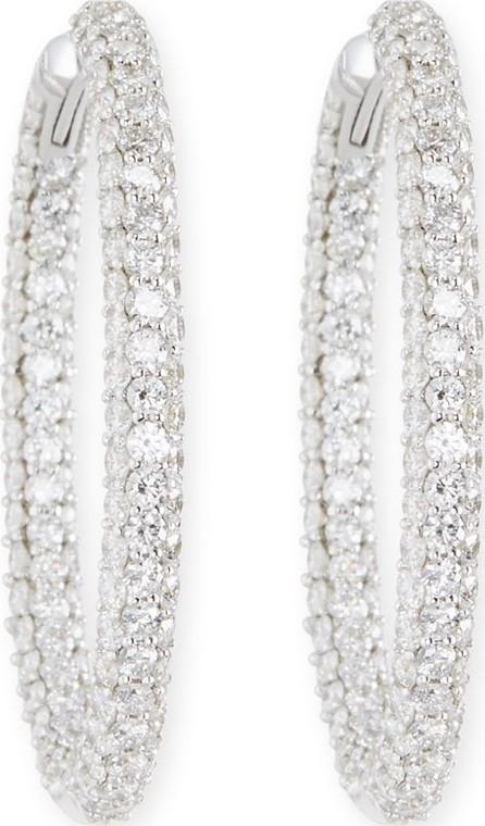 American Jewelery Designs Pave Diamond Hoop Earrings