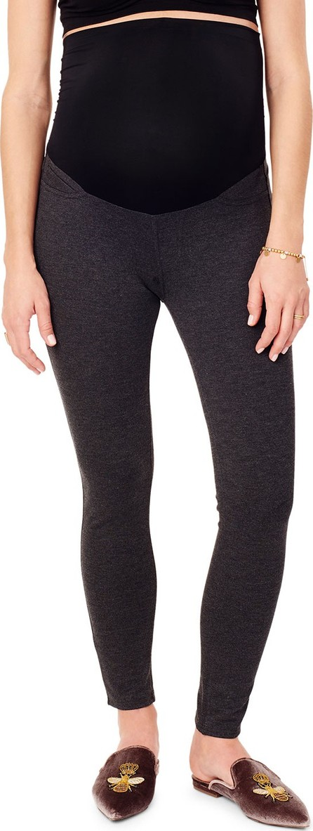 Ingrid & Isabel Maternity Skinny Ponte Ankle Pants with Whisper Crossover Panel