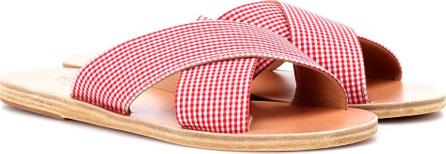 Ancient Greek Sandals Thais gingham slides