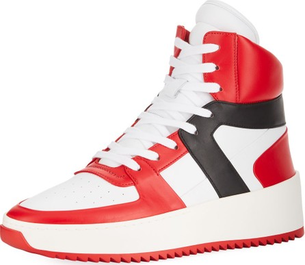 Fear of God Men's Tricolor Leather High-Top Basketball Sneakers