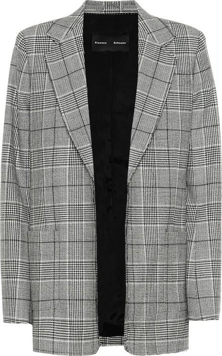 Proenza Schouler Novelty checked stretch-wool blazer