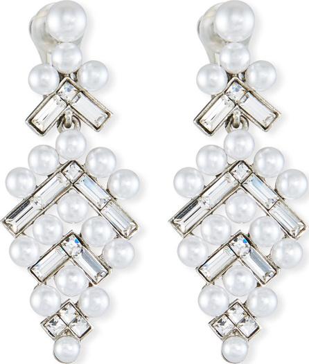 Oscar De La Renta Baguette & Pearly Drop Earrings