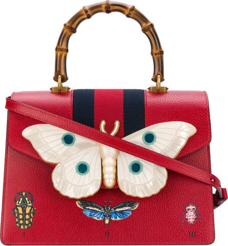 Gucci top handle bag with moth