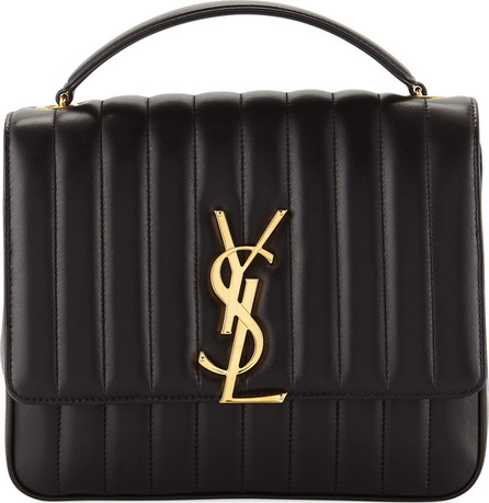 Saint Laurent Vicky Monogram YSL Large Quilted Leather Chain Crossbody Bag