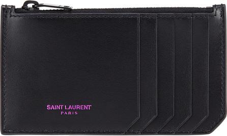 Saint Laurent Marquage Colore Zipped Fragments Card Case