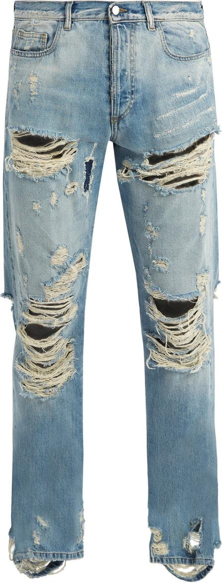Faith Connexion Distressed straight-leg jeans