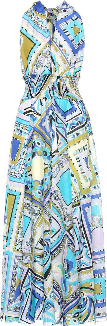 Emilio Pucci Printed cotton and silk dress