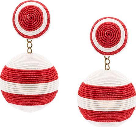 Rebecca de Ravenel striped drop earrings