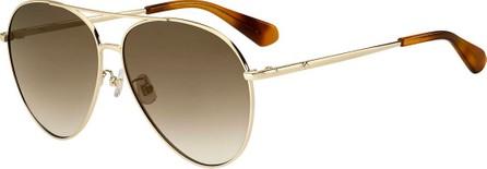 Kate Spade New York carolanefs metal aviator sunglasses