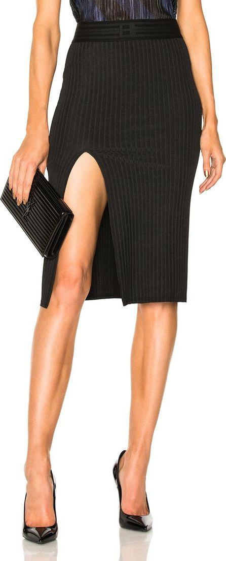 Baja East Wide Rib Jersey Slit Skirt