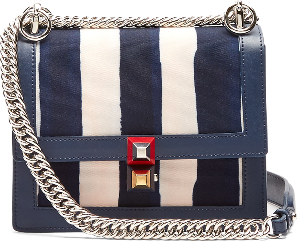 Fendi Kan I mini canvas and leather cross-body bag - Mkt 81cce63434b91