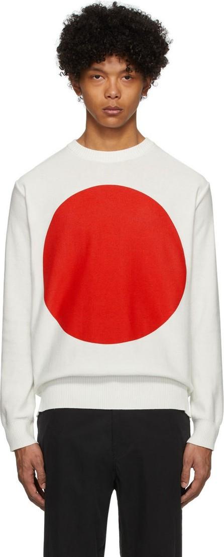 Blue Blue Japan White Big Circle Sweater
