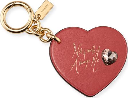 COACH x Selena Gomez Heart Embellished Bag Charm